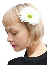 Beach Life Summer Lovin White Daisy Flower Child Hair Clip