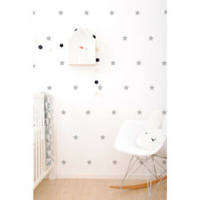 Kids Grey Stars Vinyl Wall Stickers