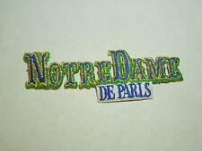 Notre Dame De Paris Iron On Sewing Patch.
