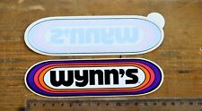 WYNN'S Racing Oil Original Vintage Racing Decal Sticker-Two stickes