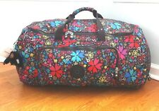 KIPLING YACHT L MOD FLORAL LARGE WEEKENDER OVERNIGHT DUFFLE LUGGAGE TRAVEL BAG