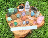 22 pcs Premium Crystal Kit - High Quality Natural Rough Protection Healing Sets