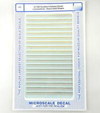 Microscale HO Decal 87-540 Southern Rail Diesel Loco Dulux Gold Stripe~NIP~T62c6