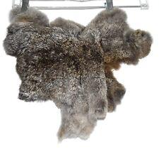 Gray & White Speckled Rabbbit Fur Hide Pelt For Crafts or Decoration