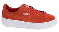 Puma Suede Platform Burnt Orange Lace Up Womens Trainers 362223 03 P0