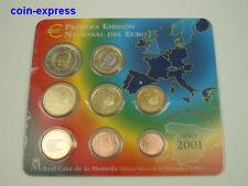 *** EURO KMS SPANIEN 2001 BU Spain Coin Set Kursmünzensatz Espana Coin Set ***