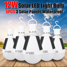Solar Charging LED Light Bulb 12W Portable Outdoor Camping Tent Emergency Lamp