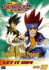 BEYBLADE METAL FUSION 10 - FIREBLAZE CONTRE PEGASUS /*/ DVD NEUF/CELLO
