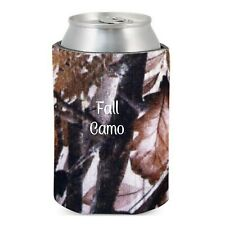 25 Fall Camo Camouflage Blank Foam Bottle & Can Coolers Coolies Wedding Party