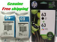 GENUINE HP 63 Black Color Ink Cartridge for HP4655 4650 HP3631 HP2132 Printer