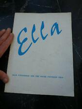Ella Fitzgerald & Oscar Peterson Trio Tour Programme Ray Brown Ed Thigpen