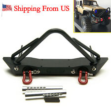 1Pc Steel Front Bumper Winch Mount Shackles fr 1/10 RC Axial SCX10 Crawler-US