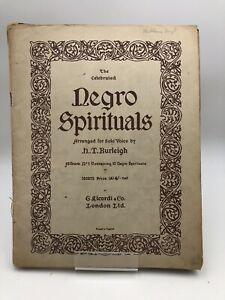 H. T. Burleigh - The Celebrated Negro Spirituals - Albums No. 1 et second. 1917