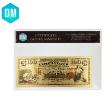 Festival Souvenir Gifts100 Dollar Colorful Gold Banknote World Bill with COA