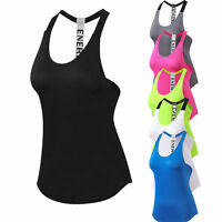 Women's Sports Yoga Vests T-back Gym Fitness Running Jogging Tank Top Breathable
