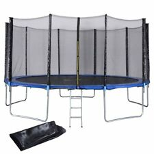12FT Trampoline Combo Bounce Jump Safety Enclosure Net W/Spring Pad, Ladder