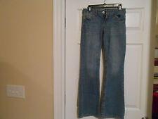 Girls Aeropostale Skinny Blue Jeans w/Flare - Size 0 - Ec