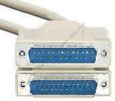 15ft DB25 pin Male~M 25wire Parallel Bi-Directional/RS232 Serial Cable/Cord/Wire