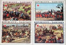 DAHOMEY 1968 352-55 C77-80 Red Cross Rotes Kreuz French Painter Art Kunst MNH