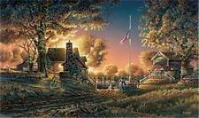 Terry Redlin Good Evening American Signed and Numbered 32 x 18.5 Plus Border