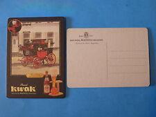 Beer Pub Coaster ~ KWAK ~ Brouwerij BOSTEELS Brasserie BELGIAN BREWERY Postcard