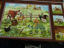 Tela Patchwork -panell - baunernhof 60 x 110cm 100% BW multicolor C.motivos