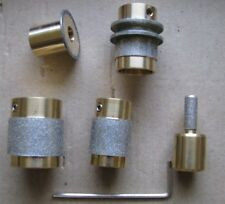 5 Stained Glass Grinder Bit Head 4 Inland Or Glastar Top Quality Brass 5 Sizes!