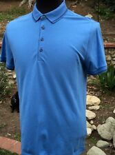 Claiborne Mens Sz. S Polo shirt Light Blue with black trim short sleeve NWT