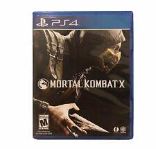 PS4 Mortal Kombat X PlayStation 4 Sony Mortal Kombat Ten 10