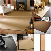 Natural Fibre Herringbone Flat Weave Rug in Various Colours and Sizes Carpet