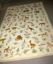 New listing Vintage Crewel Bed Spread - Hand Made - Beautiful - Twin - #1