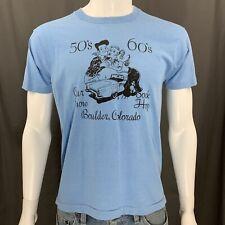 Vintage 80's Screen Stars Graphic T-Shirt Boulder, Co Car Show Sock Hop Large