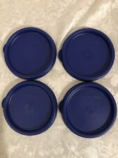 Tupperware Set Of 4 Snack Cups Bell & 16 Oz Tumbler Seals Lids Brand New #4922