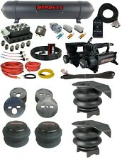 Complete Air Ride Suspension Kit 88-98 Chevy C15 Accuair Vu4 AVS SwitchBox Black