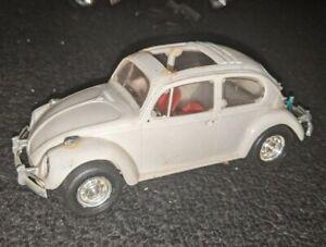 VINTAGE VW BEETLE BUILT MODEL KIT VOLKSWAGEN PYRO SUN ROOF BUG SLIDE OLD HERBIE