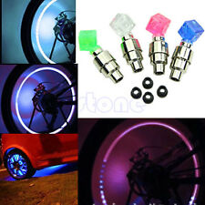 2 pcs Dice LED Light Bike Bicycle Car Motor Wheel Valve Stem Cap tire Neon lamp
