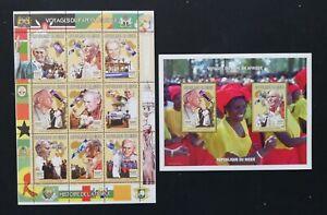 R.Niger-Papal visit to Africa-1M/Sh+1 S/Sh-MNH**-NIG 16A/L