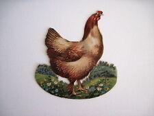 Antique Paper Chicken Die Cut That Rocks *