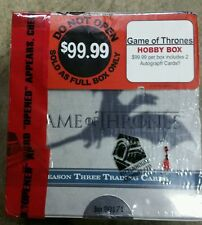Game of Thrones season three 3 trading card box sealed/2 autographs Series Three