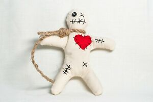 Mini Voodoo Doll and Pins - Protection, Control, Charm, Handmade Wicca Yorkshire