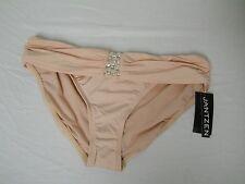 Jantzen New Womens Peach Banded Bikini Bottom Bathing Suit Size 14