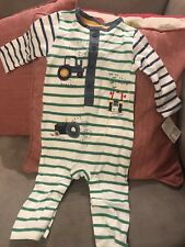 Mothercare 3-6 Month Boys Babygrow Tractors