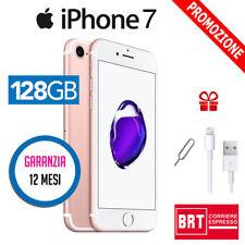 GRADO A++  APPLE IPHONE 7 128GB ROSE GOLD ORO ROSA USATO RICONDIZIONATO