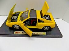 1/18 Scale Yellow Diecast 1990 Ferrari 348TS by Maisto