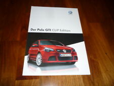 VW Polo GTI CUP EDITION Prospekt 11/2007
