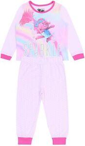 Pink Top & Bottoms Pyjama Set For Girls Trolls DREAMWORKS