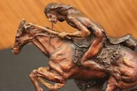 CHEYENNE BRONZE SCULPTURE BY FREDRICK REMINGTON REPRODUCTION HOT CAST ARTWORK NR