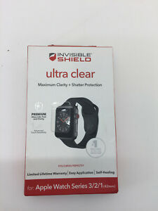 ZAGG InvisibleShield Ultra Clear Screen Protector for Watch Series 3/2/1 42mm