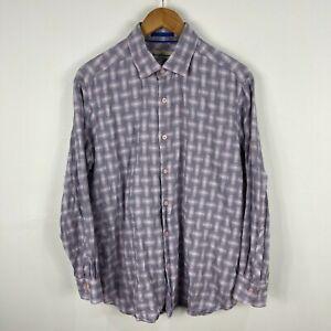 Tommy Bahama Mens Button Up Shirt Size Medium Multicoloured Long Sleeve 59.03