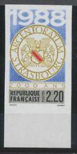 1988 France N°2552a Bord de Feuille Non dentelé Neuf luxe** COTE 20€ D2173